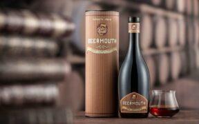Una bottiglia di Beermouth di Baladin.